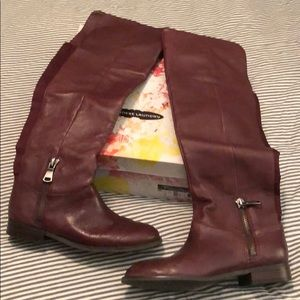 Chinese Laundry boots, burgundy, Sz. 7.5